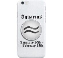 Aquarius Zodiac Sign iPhone / iPod Cover - White iPhone Case/Skin