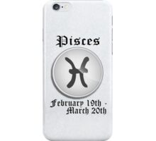 Pisces Zodiac Sign iPhone / iPod Cover - White iPhone Case/Skin