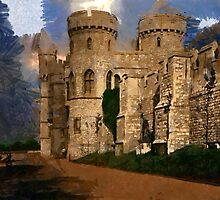 Beautiful Britain - The Norman Gate, Windsor Castle in 1897 by Dennis Melling