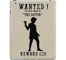 Wanted (Doctor Who) iPad Case/Skin