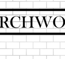 Torchwood Subway Sticker