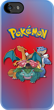 Pokemon - Charizard, Venusaur, Blastoise iPhone / iPod Cover by Aaron Campbell