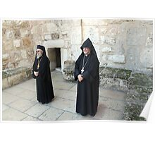Greek and Armenian Monks Poster