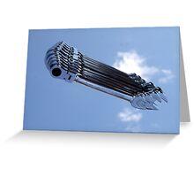 Flying Gear Greeting Card