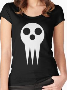 Shinigami skull  Women's Fitted Scoop T-Shirt