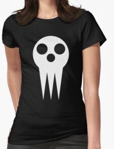 Shinigami skull  Womens Fitted T-Shirt