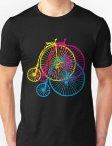 Colourful penny farthings T-Shirt