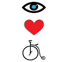 I Heart Cycling Photographic Print