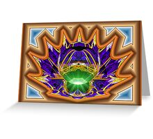 Splits-Ngon #5:  Dimpled Crown  (UF0599) Greeting Card