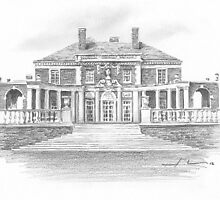 mansion drawing by Mike Theuer