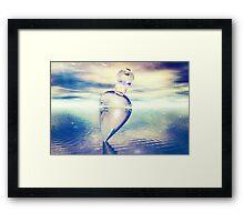 Coloured Crystal Framed Print
