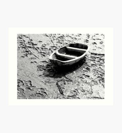 Small Boat Low Tide Art Print