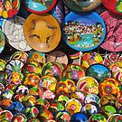 Handpainted colourful plates and bowles - Fuentes coloridas pintadas de Mano by PtoVallartaMex