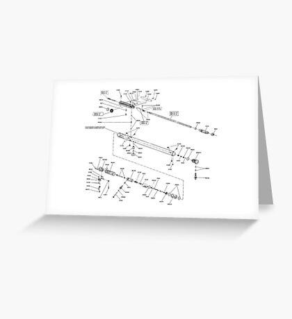 FX2000 air rifle schematic Greeting Card