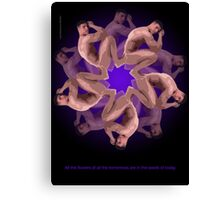 MANFLOWER 1 CARD Canvas Print