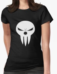 Shinigami skull two Womens Fitted T-Shirt