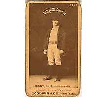 Benjamin K Edwards Collection Jerry Denny Indianapolis Hoosiers baseball card portrait 001 Photographic Print