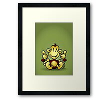 Manic Monkey with 4 thumbs up Framed Print