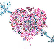 Abstract Pattern Valentine by Regina Valluzzi