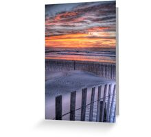 Double Fence Greeting Card
