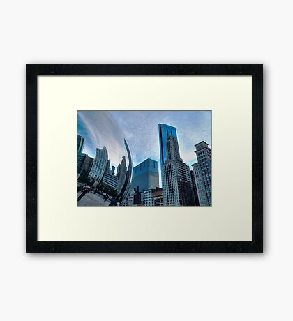 Mirror Bean Framed Print