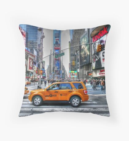 Taxi Throw Pillow