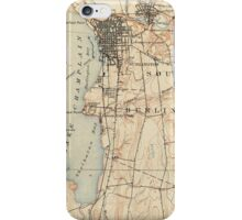 Vintage Burlington Vermont Topographic Map (1904) iPhone Case/Skin