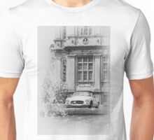 An old classic Mercedes car at Longleat House, Wiltshire, UK. Unisex T-Shirt