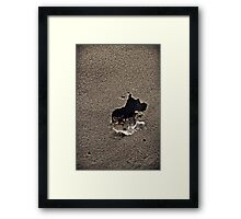 """Dark and Cold"" Framed Print"
