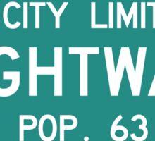 Tightwad, Road Marker, Missouri, USA Sticker