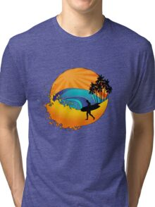 Summers surf Tri-blend T-Shirt