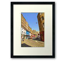 Victoria Street: an architectural palette Framed Print