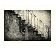 Stairs on a rainy day Art Print