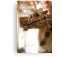 Carousel horse, digital artwork. Canvas Print