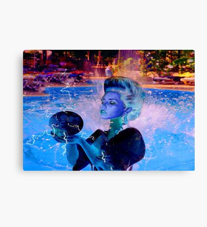 Electric Witch Canvas Print
