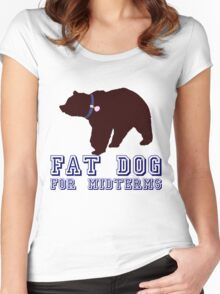 Fat Dog For Midterms Women's Fitted Scoop T-Shirt