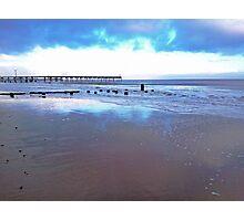 Blue Beach Photographic Print