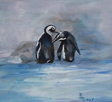 Penguins  by Brenda Thour
