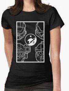 Blue Team - Dark Womens Fitted T-Shirt