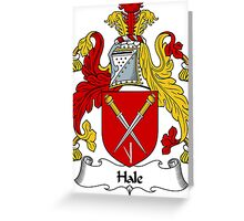 Hale Coat of Arms / Hale Family Crest Greeting Card
