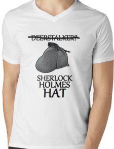 sherlock holmes hat Mens V-Neck T-Shirt