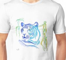 White Tiger Ink Drawing Unisex T-Shirt