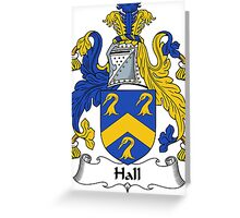 Hall Coat of Arms / Hall Family Crest Greeting Card