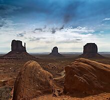 Mittens of Monument Valley by Paul Barnett