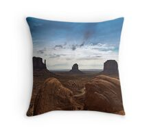 Mittens of Monument Valley Throw Pillow