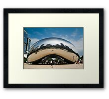 Cloud Gate Framed Print
