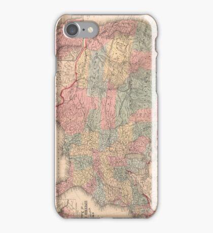 Vintage United States Map (1859) iPhone Case/Skin