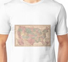Vintage United States Map (1859) Unisex T-Shirt