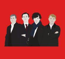 Sherlock, John, Greg, Mycroft Kids Tee