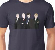 Sherlock, John, Greg, Mycroft Unisex T-Shirt